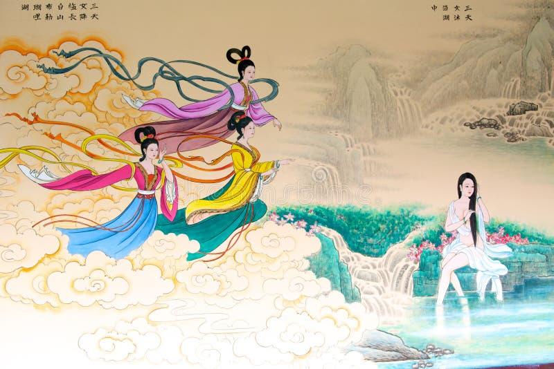 Κλασσική κινεζική ζωγραφική διανυσματική απεικόνιση