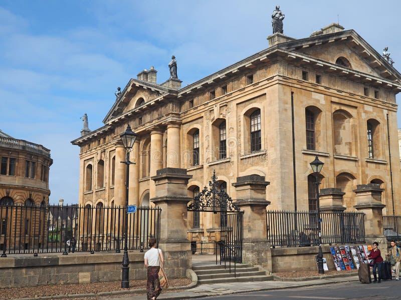 Κλασσικό ορισμένο Clarendon κτήριο Πανεπιστημίου της Οξφόρδης ` s στοκ φωτογραφίες