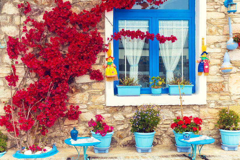 Κλείστε επάνω ενός παραδοσιακού μεσογειακού σπιτιού στοκ εικόνες με δικαίωμα ελεύθερης χρήσης