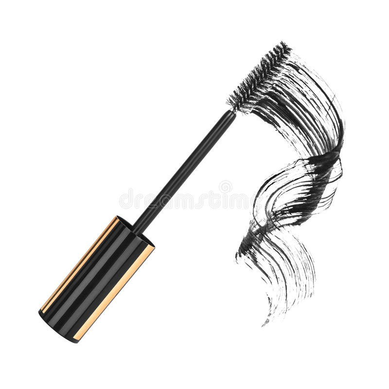 Κλείστε επάνω μαύρο mascara διανυσματική απεικόνιση