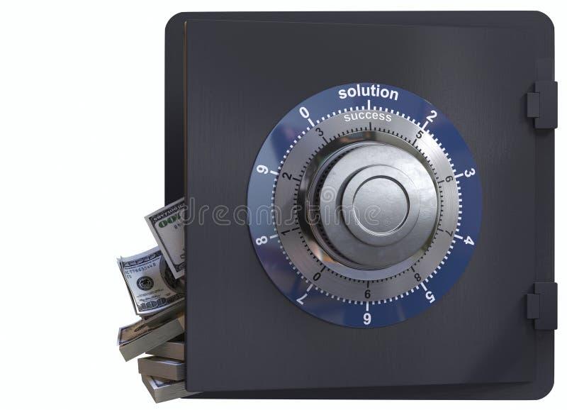 Κλείστε επάνω μιας ασφαλούς έννοιας κλειδαριών και μετρητών της λύσης και της επιτυχίας στοκ φωτογραφία με δικαίωμα ελεύθερης χρήσης
