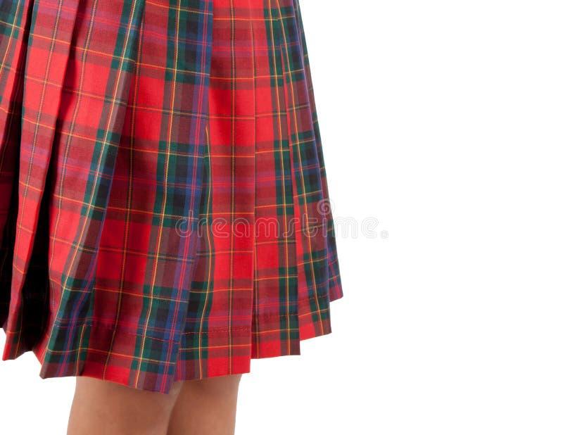 Κλείστε επάνω μιας κόκκινης φούστας σκωτσέζικα στοκ φωτογραφία με δικαίωμα ελεύθερης χρήσης