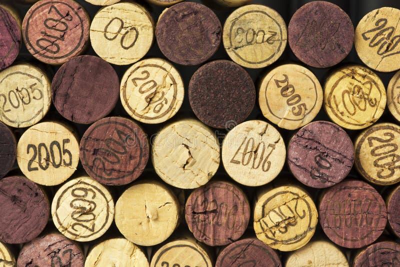 Το κρασί βουλώνει στοκ εικόνες