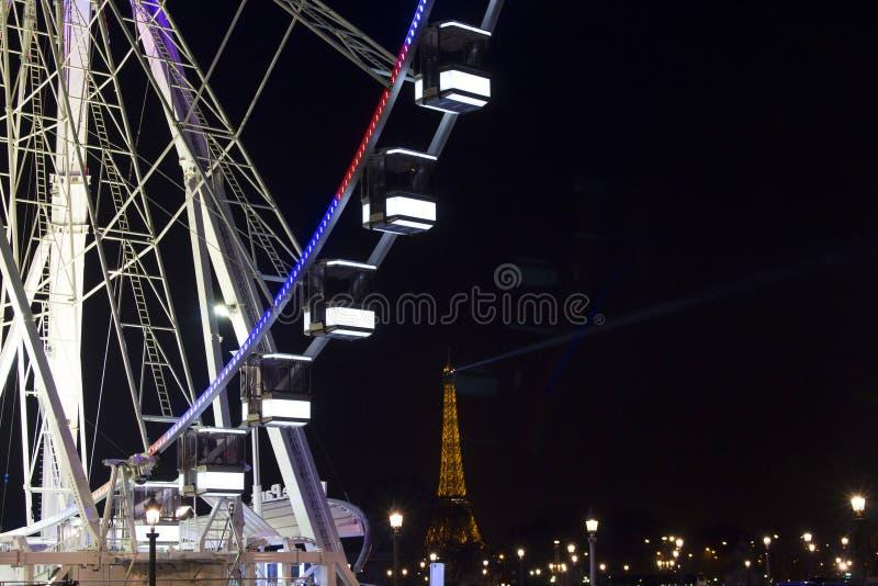 Κλείστε επάνω την άποψη της ρόδας ferris στο Παρίσι στοκ φωτογραφία με δικαίωμα ελεύθερης χρήσης