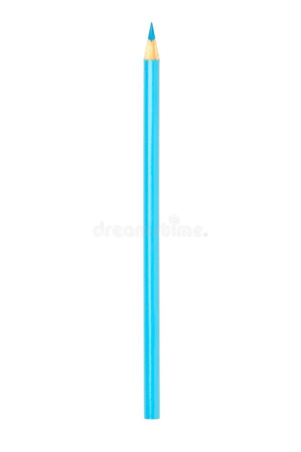 κλείστε επάνω την εικόνα ενός ανοικτό μπλε μολυβιού χρώματος ενάντια στο άσπρο backgr στοκ φωτογραφία με δικαίωμα ελεύθερης χρήσης