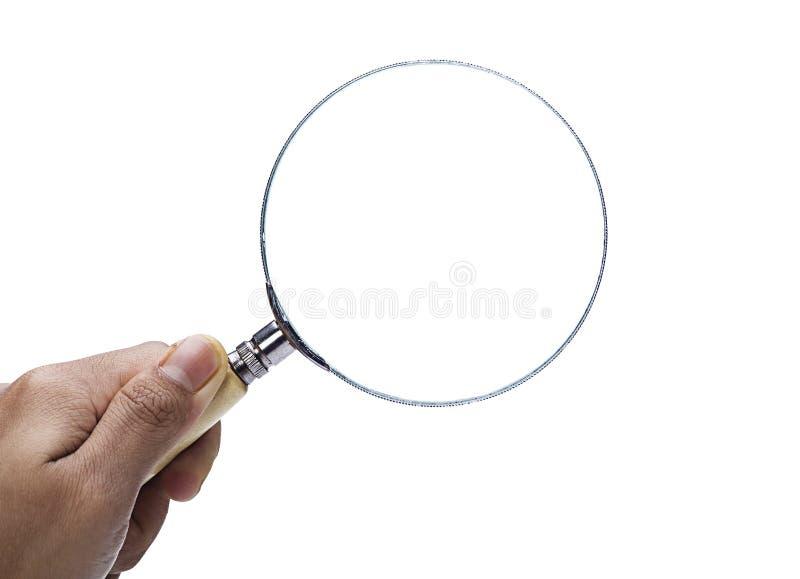 Κλείστε επάνω της ενίσχυσης εκμετάλλευσης χεριών - γυαλί στοκ εικόνα με δικαίωμα ελεύθερης χρήσης