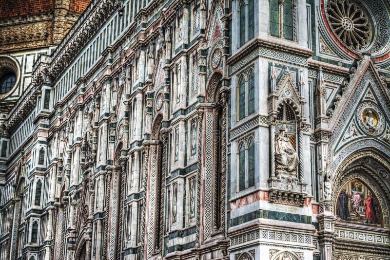 Κλείστε επάνω της πρόσοψης της Σάντα Μαρία del Fiore στη Φλωρεντία στοκ εικόνες με δικαίωμα ελεύθερης χρήσης