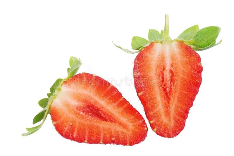Κλείστε επάνω της φρέσκιας φράουλας που απομονώνεται στο άσπρο υπόβαθρο στοκ φωτογραφίες με δικαίωμα ελεύθερης χρήσης