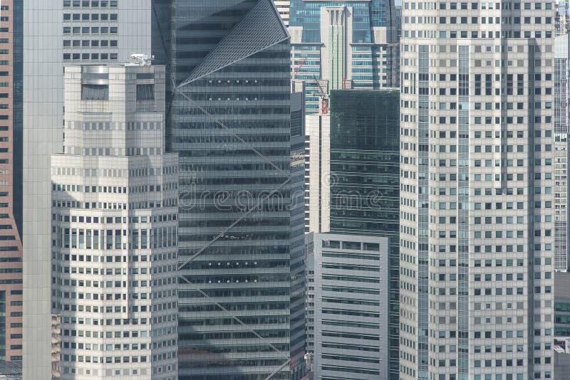 Κλείστε επάνω τη δομή του κτιρίου γραφείων στη Σιγκαπούρη στοκ εικόνες