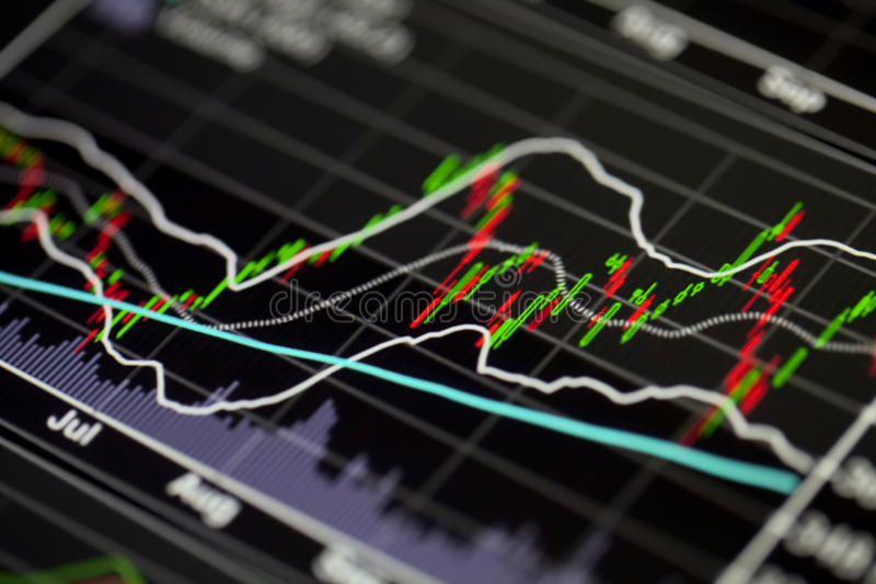 Διάγραμμα χρηματιστηρίου στοκ εικόνες με δικαίωμα ελεύθερης χρήσης