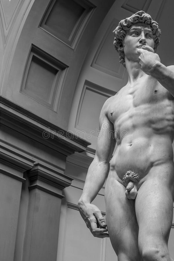 Κλείστε επάνω του αγάλματος του Δαβίδ στοκ φωτογραφίες με δικαίωμα ελεύθερης χρήσης