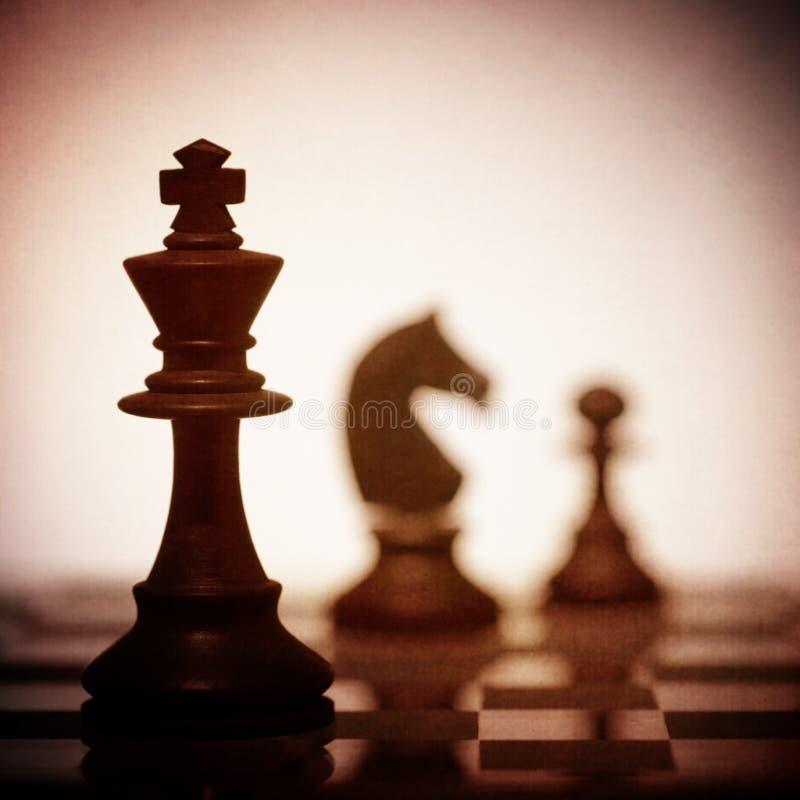 Κλείστε επάνω του κομματιού σκακιού βασιλιάδων στοκ φωτογραφία με δικαίωμα ελεύθερης χρήσης