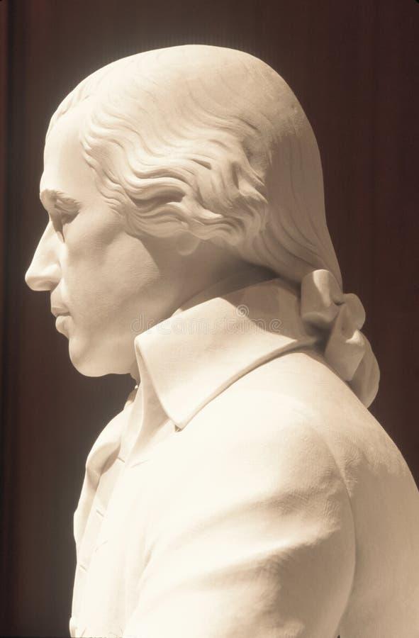 Κλείστε επάνω του μνημείου του James Μάντισον, κτήριο του James Μάντισον, βιβλιοθήκη του Κογκρέσου, Ουάσιγκτον, συνεχές ρεύμα στοκ φωτογραφία