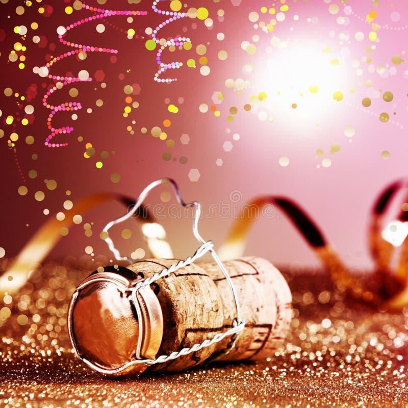 Κλείστε επάνω το κρασί Κορκ καρναβαλιού στο κλουβί μετάλλων στοκ φωτογραφία με δικαίωμα ελεύθερης χρήσης