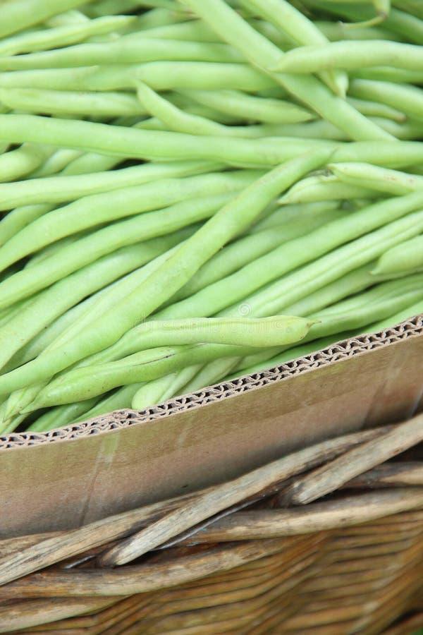 Κλείστε επάνω το πράσινο φασόλι στην ινδική αγορά στοκ εικόνα με δικαίωμα ελεύθερης χρήσης