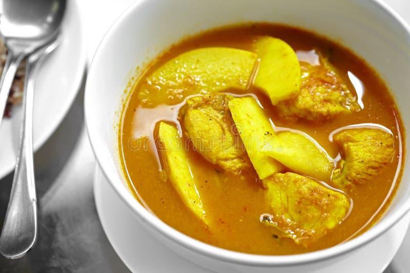 Κλείστε επάνω το ταϊλανδικό πικάντικο κίτρινο κάρρυ ψαριών στοκ φωτογραφία με δικαίωμα ελεύθερης χρήσης