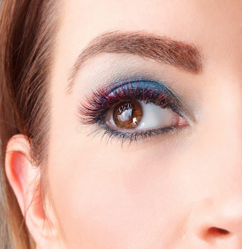 Κλείστε επάνω των επεκτάσεων eyelash στοκ φωτογραφίες με δικαίωμα ελεύθερης χρήσης