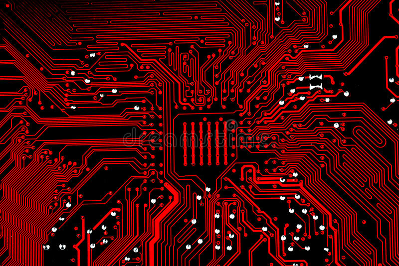 Κλείστε επάνω των κυκλωμάτων ηλεκτρονικών στον πίνακα λογικής υποβάθρου υπολογιστών τεχνολογίας Mainboard, μητρική κάρτα ΚΜΕ, κύρ στοκ φωτογραφία με δικαίωμα ελεύθερης χρήσης