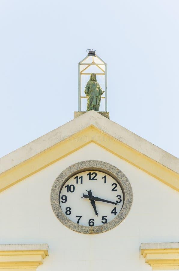 Κλείστε στο ρολόι Catedral Metropolitana Sagrado Coracao de στοκ εικόνα με δικαίωμα ελεύθερης χρήσης