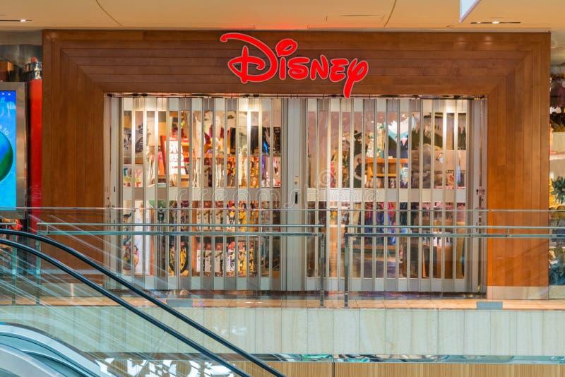 Κλειστό κατάστημα της Disney στη λεωφόρο αγορών Galleria στοκ εικόνες με δικαίωμα ελεύθερης χρήσης