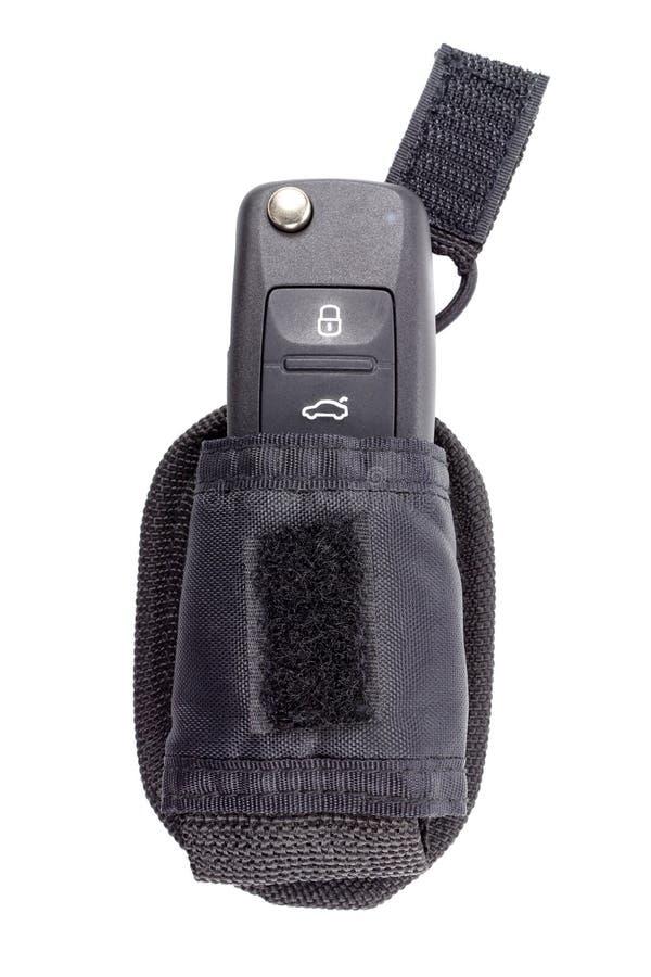 Κλειστό κλειδί ανάφλεξης σε μια σακούλα αποθήκευσης που απομονώνεται σε ένα άσπρο υπόβαθρο στοκ φωτογραφία με δικαίωμα ελεύθερης χρήσης
