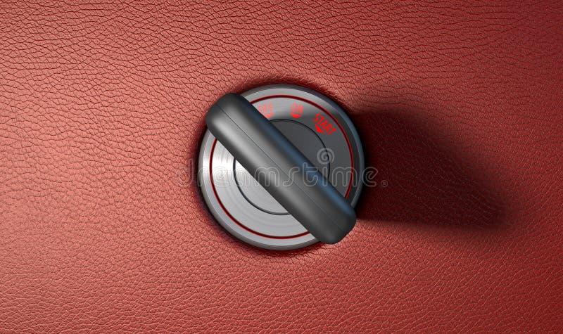 Κλειδί αυτοκινήτων στην ανάφλεξη απεικόνιση αποθεμάτων