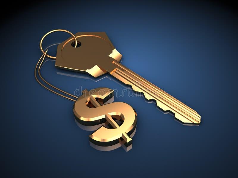 Κλειδί για τον πλούτο ελεύθερη απεικόνιση δικαιώματος