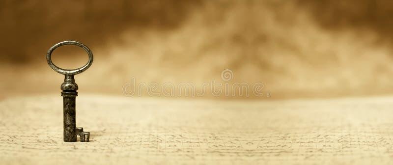 Κλειδί σε μια επιστολή στοκ εικόνες με δικαίωμα ελεύθερης χρήσης