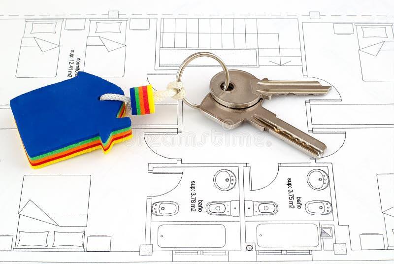 Κλειδί σπιτιών στοκ φωτογραφία με δικαίωμα ελεύθερης χρήσης