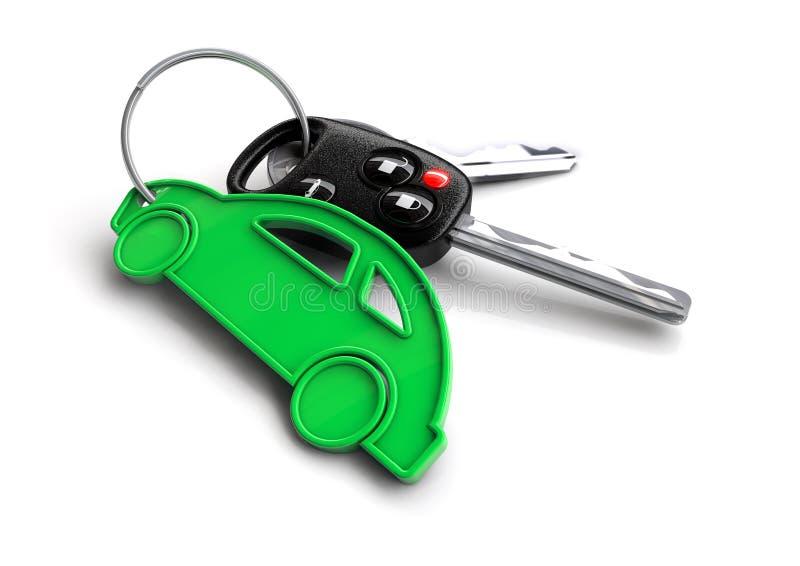 Κλειδιά αυτοκινήτων με το μπρελόκ εικονιδίων αυτοκινήτων Έννοια για την ιδιοκτησία ενός οχήματος ελεύθερη απεικόνιση δικαιώματος