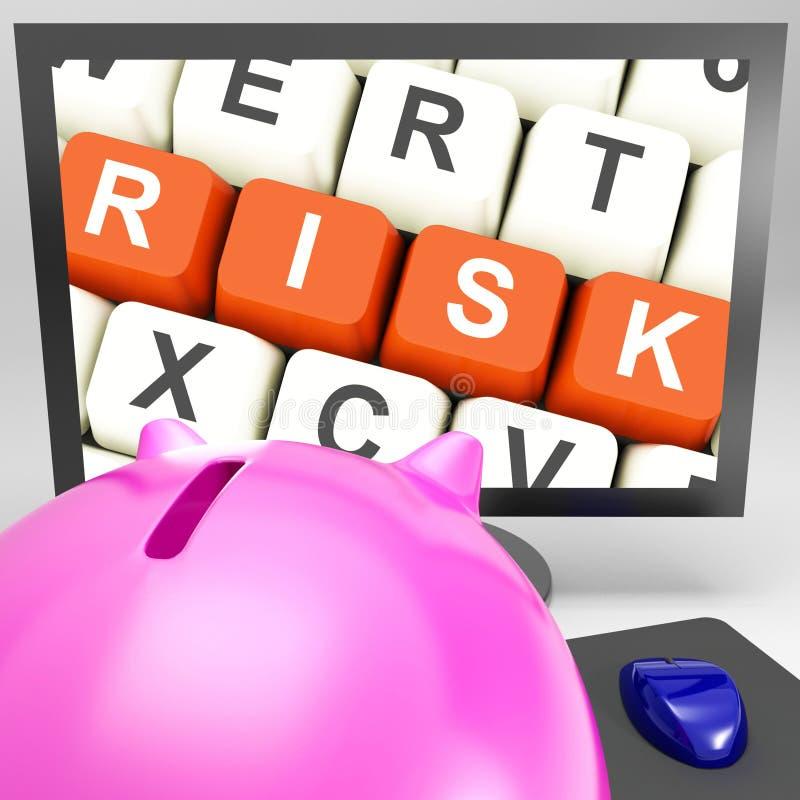 Κλειδιά κινδύνου στο όργανο ελέγχου που παρουσιάζει επενδυτικούς κινδύνους στοκ φωτογραφία