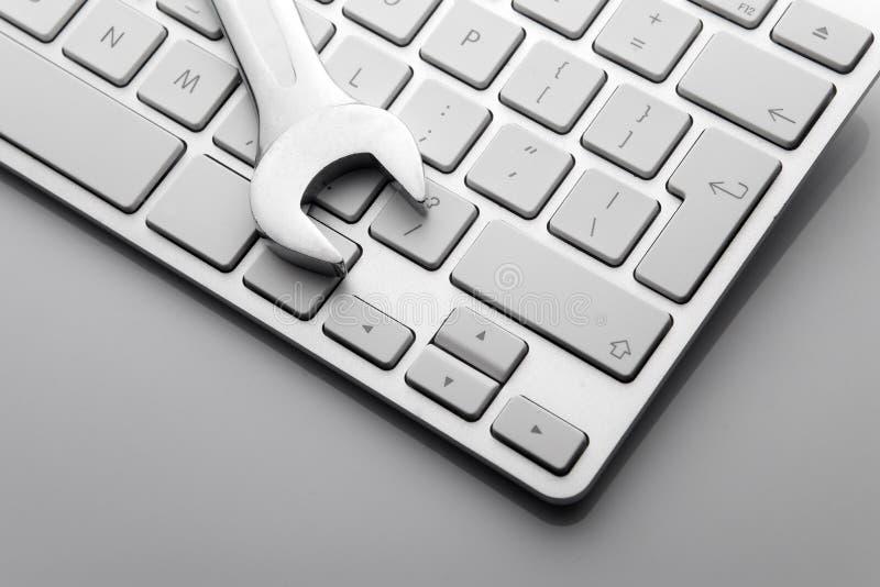 κλειδιά στο πληκτρολόγιο υπολογιστών στοκ εικόνα