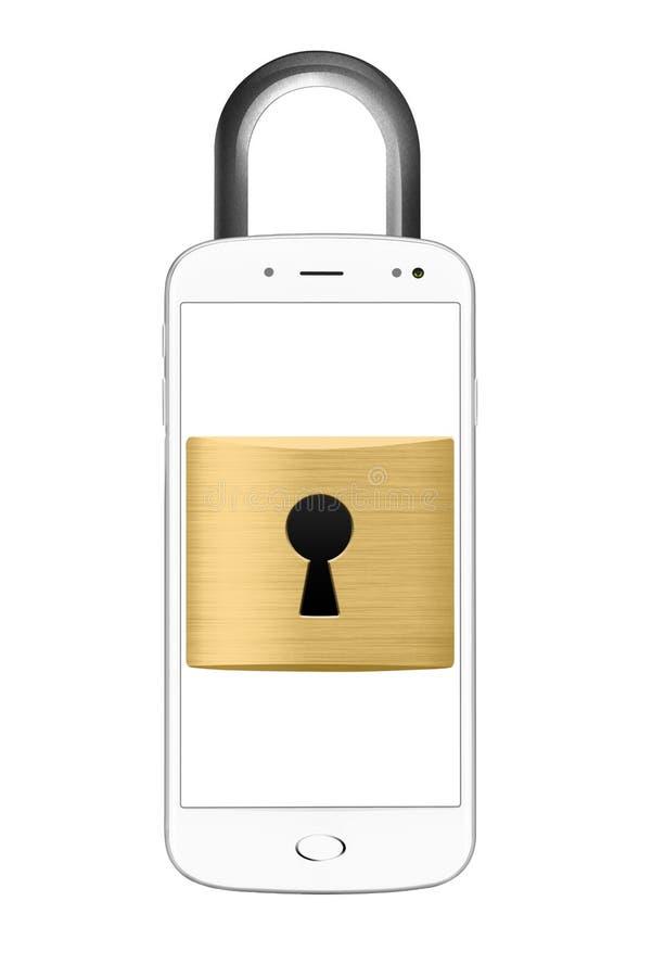 Κλειδωμένη έννοια smartphone ελεύθερη απεικόνιση δικαιώματος