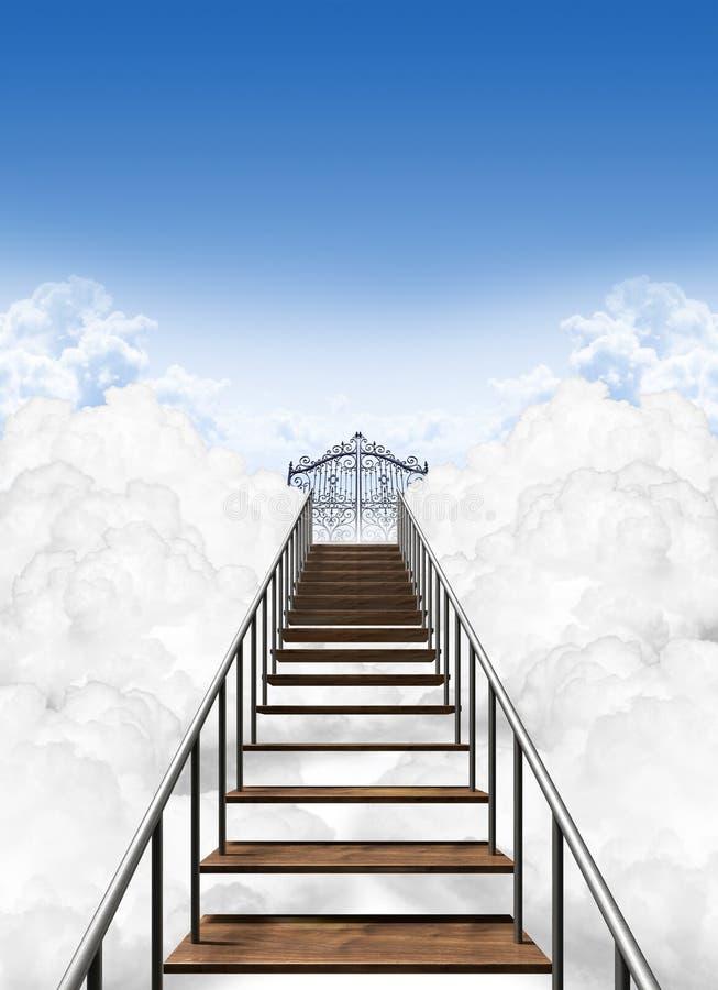 Κλιμακοστάσιο στον ουρανό στοκ εικόνα με δικαίωμα ελεύθερης χρήσης