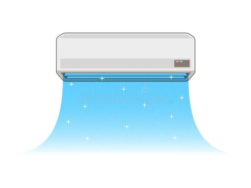 Κλιματισμός της απεικόνισης διανυσματική απεικόνιση
