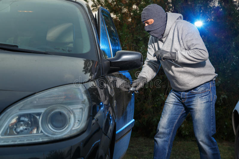 Κλοπή αυτοκινήτων στοκ φωτογραφία με δικαίωμα ελεύθερης χρήσης