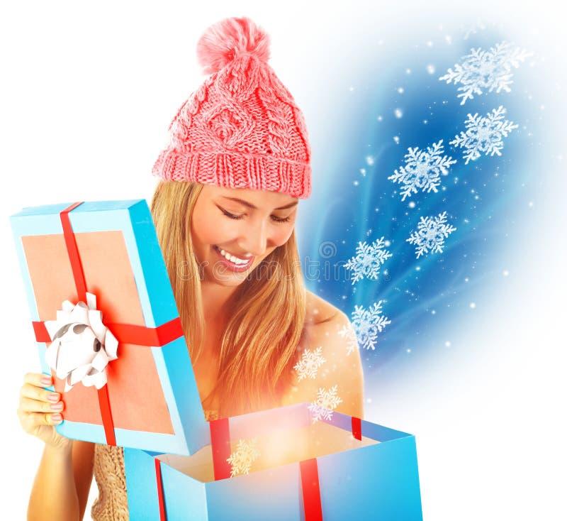 Λάβετε το χριστουγεννιάτικο δώρο στοκ εικόνες