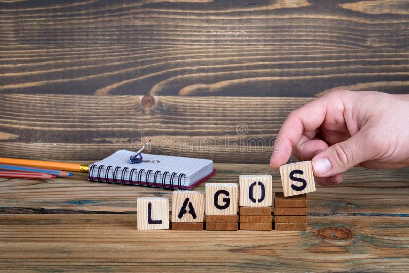Λάγκος, μια πόλη στη Νιγηρία όπου πολλά εκατομμύρια των ανθρώπων ζουν στοκ φωτογραφία με δικαίωμα ελεύθερης χρήσης