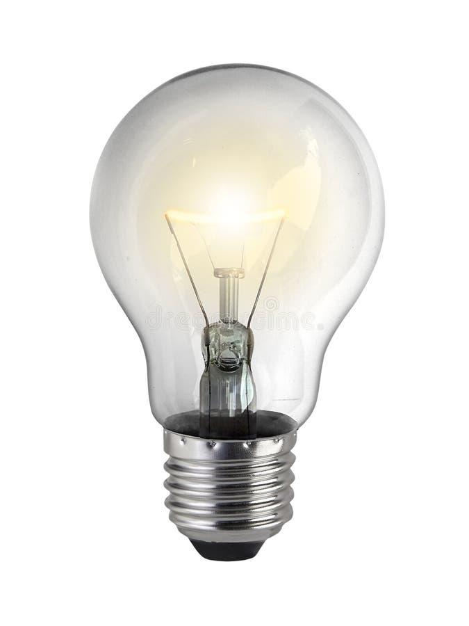 Λάμπα φωτός, απομονωμένη, ρεαλιστική εικόνα φωτογραφιών στοκ εικόνα με δικαίωμα ελεύθερης χρήσης