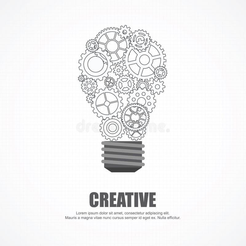 Λάμπα φωτός εργαλείων για τις ιδέες και τη δημιουργικότητα ελεύθερη απεικόνιση δικαιώματος