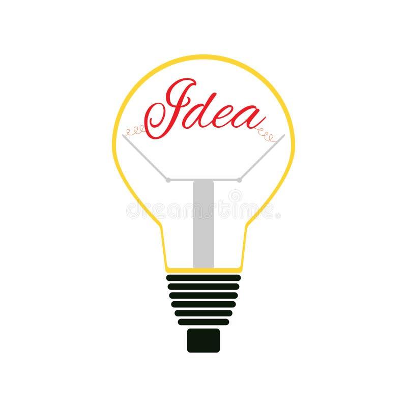Λάμπα φωτός με την ιδέα κειμένων Απομονωμένο εικονίδιο, λογότυπο, σύμβολο r διανυσματική απεικόνιση