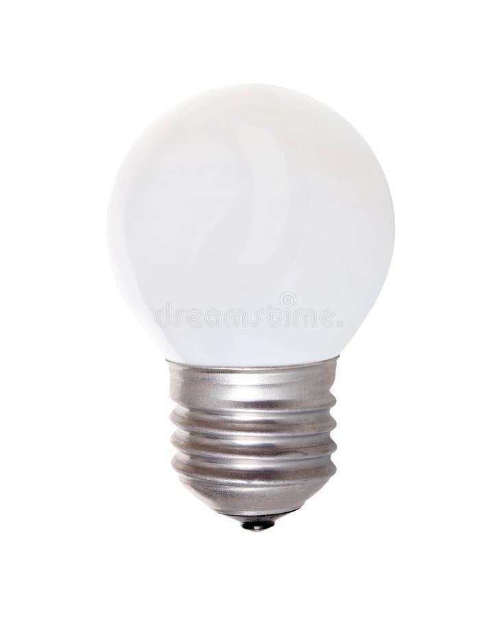 Λάμπα φωτός με το γυαλί γάλακτος που απομονώνεται στοκ φωτογραφία με δικαίωμα ελεύθερης χρήσης