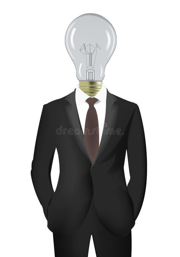 Λάμπα φωτός με το σώμα ενός διευθυντή ελεύθερη απεικόνιση δικαιώματος