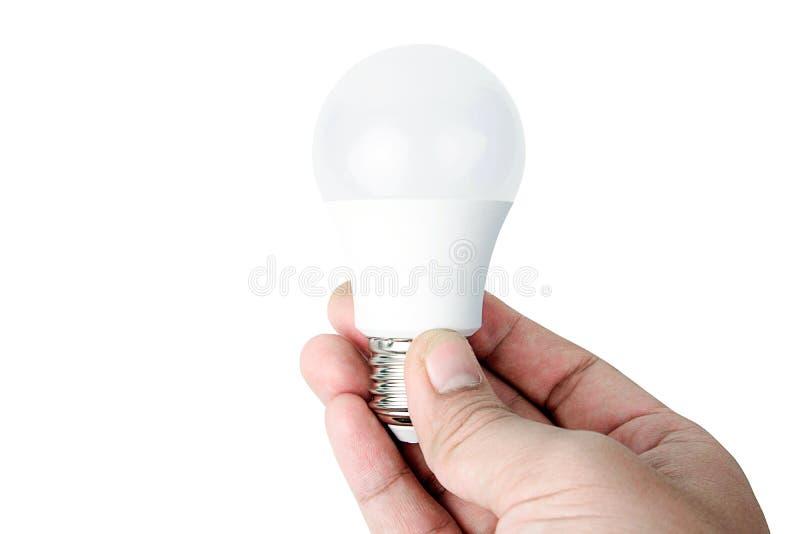 Λάμπα φωτός των οδηγήσεων εκμετάλλευσης, απομονωμένη λαμπτήρας δημιουργική έννοια στοκ φωτογραφία με δικαίωμα ελεύθερης χρήσης
