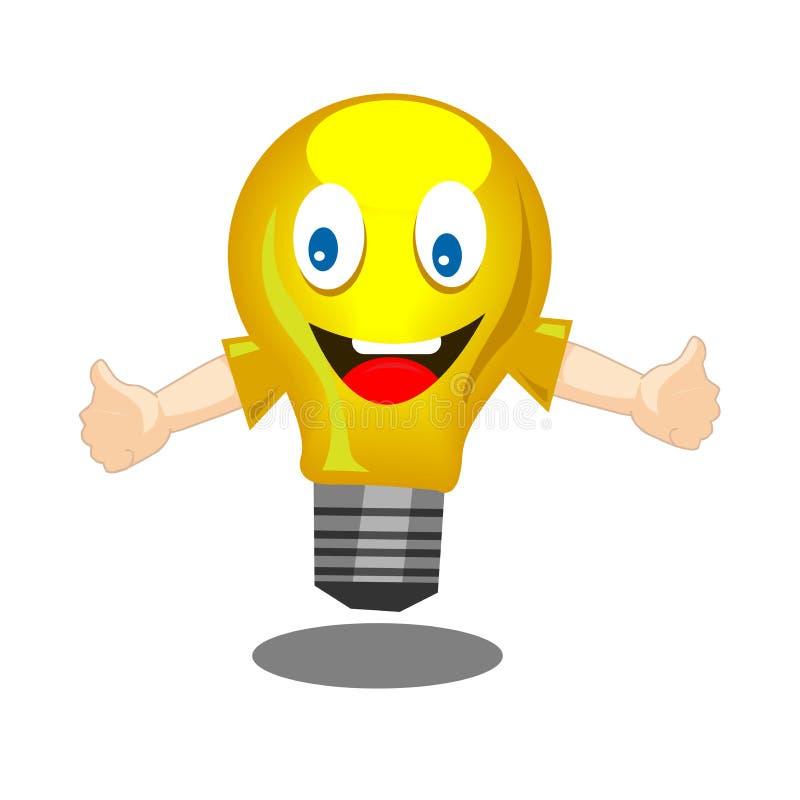 Λάμπα φωτός υπό μορφή smiley η υποδοχή, χαιρετά, δημιουργικός, ιδέες απεικόνιση αποθεμάτων