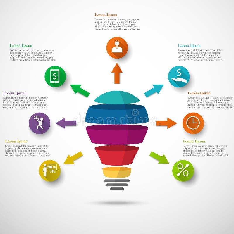 Λάμπα φωτός infographic ελεύθερη απεικόνιση δικαιώματος