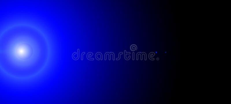 Λάμποντας αντικείμενα νέου στο σκοτάδι Αστροφεγγιά Blu Ζωηρόχρωμοι καμμένος κύκλοι νέου στο μαύρο υπόβαθρο Αφηρημένη απεικόνιση μ διανυσματική απεικόνιση