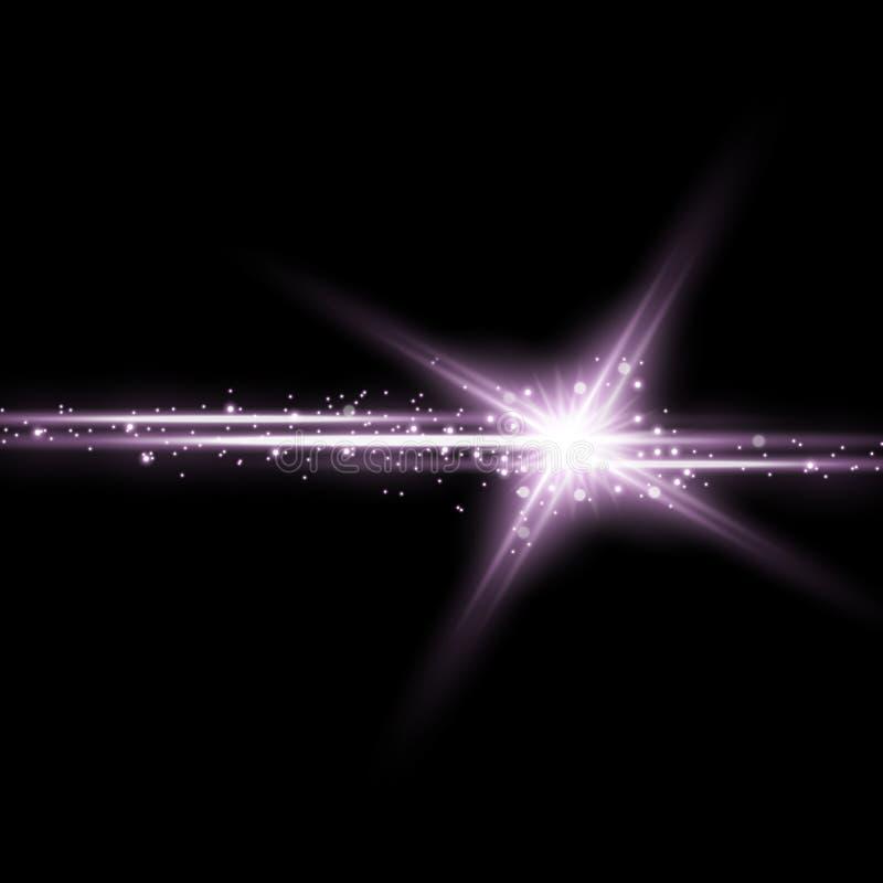 Λάμποντας αστέρι με μια αίσθηση μαγείας, πορφυρό χρώμα απεικόνιση αποθεμάτων
