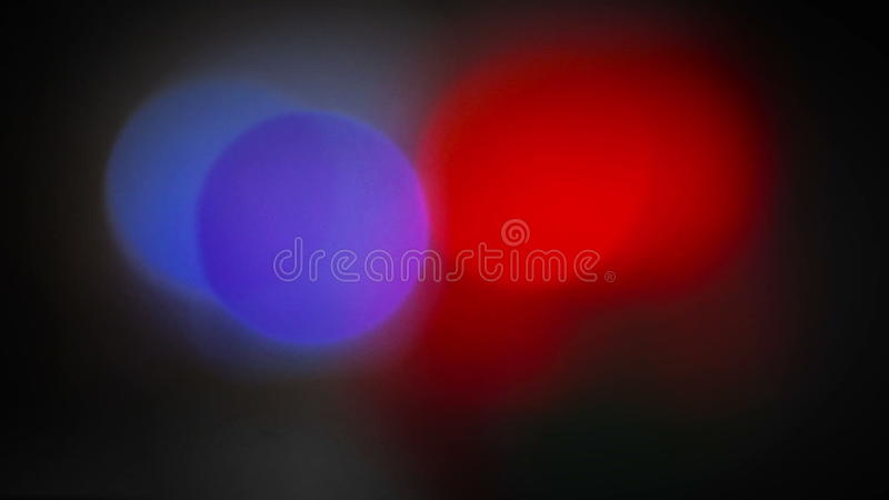 Λάμποντας αστυνομία που περιστρέφεται ελαφρύ Bokeh πάνω από τα οχήματα μιας Αστυνομικής Υπηρεσίας απόθεμα βίντεο