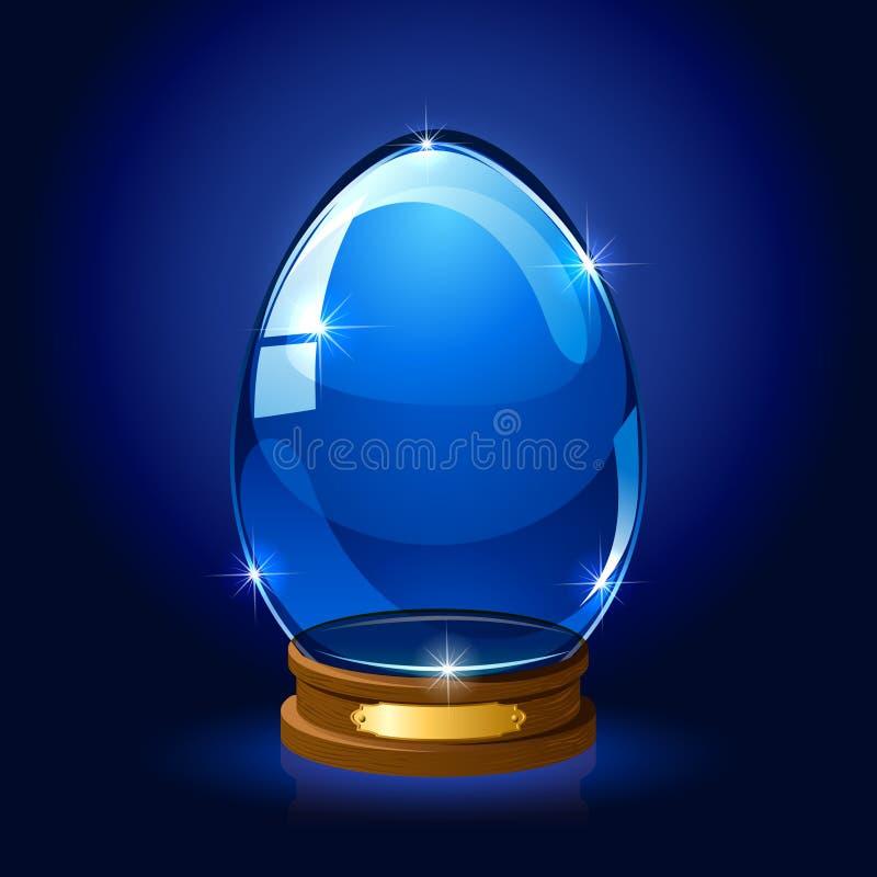 Λάμποντας αυγό Πάσχας απεικόνιση αποθεμάτων
